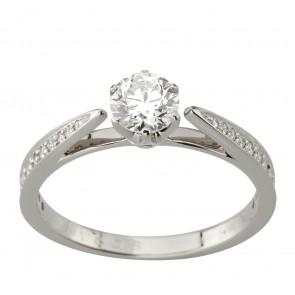 Каблучка з декількома діамантами 941-2011