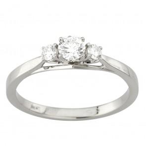 Каблучка з декількома діамантами 941-2039
