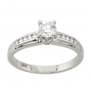 Каблучка з декількома діамантами 941-3044