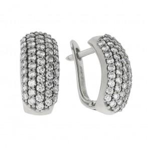 Сережки з декількома діамантами 942-0195