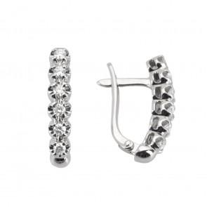 Сережки з декількома діамантами 942-0239