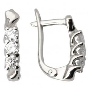 Сережки з декількома діамантами 942-0932