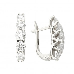 Сережки з декількома діамантами 942-1033