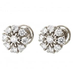 Сережки з декількома діамантами 942-1109