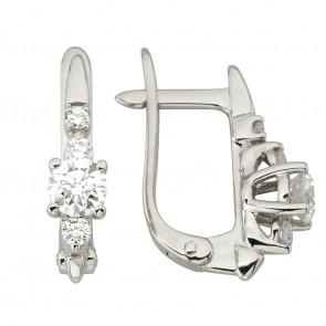 Сережки з декількома діамантами 942-1269
