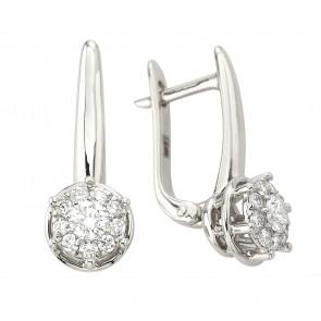 Сережки з декількома діамантами 942-2025