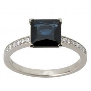 Каблучка з діамантами та кольоровим камінням 981-1277