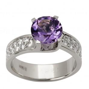Каблучка з діамантами та кольоровим камінням 981-1508