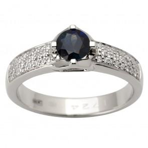 Каблучка з діамантами та кольоровим камінням 981-1771
