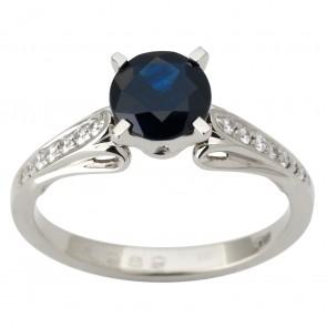 Каблучка з діамантами та кольоровим камінням 981-1823