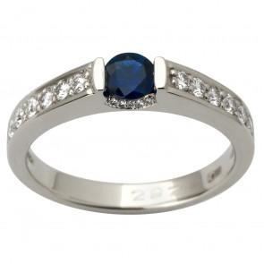 Каблучка з діамантами та кольоровим камінням 981-1855
