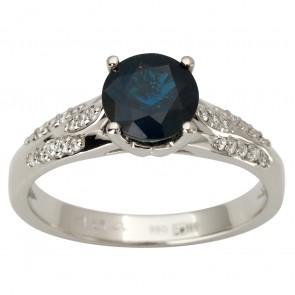 Каблучка з діамантами та кольоровим камінням 981-1866
