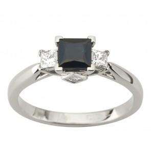 Каблучка з діамантами та кольоровим камінням 981-1903