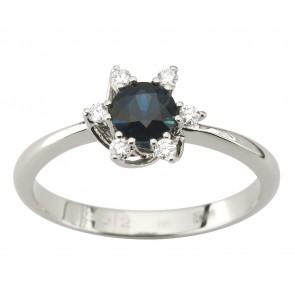 Каблучка з діамантами та кольоровим камінням 981-1905