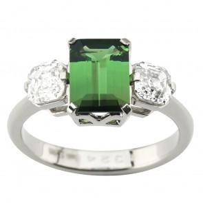 Каблучка з діамантами та кольоровим камінням 981-1964