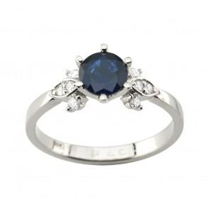 Каблучка з діамантами та кольоровим камінням 981-1966