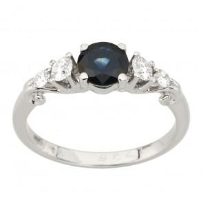 Каблучка з діамантами та кольоровим камінням 981-2000