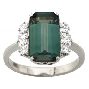 Каблучка з діамантами та кольоровим камінням 981-3028
