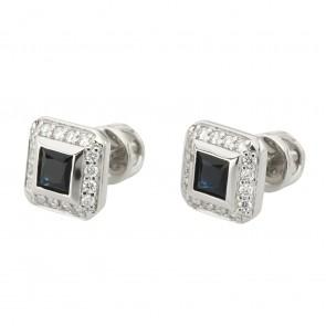 Сережки з діамантами та кольоровим камінням 982-0818