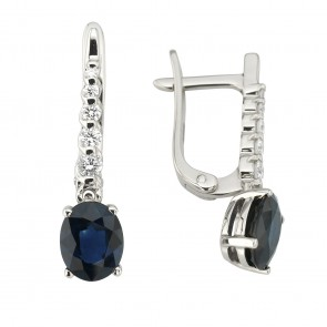 Сережки з діамантами та кольоровим камінням 982-1178