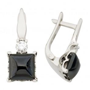 Сережки з діамантами та кольоровим камінням 982-1241