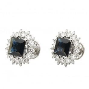 Сережки з діамантами та кольоровим камінням 982-1297