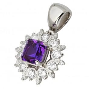 Підвіска з діамантами та кольоровим камінням 989-0767