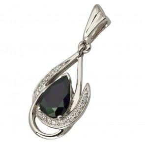 Підвіска з діамантами та кольоровим камінням 989-0800